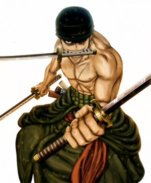 Roronoa zoro • Chape... Luffy 2 Years Later Haki